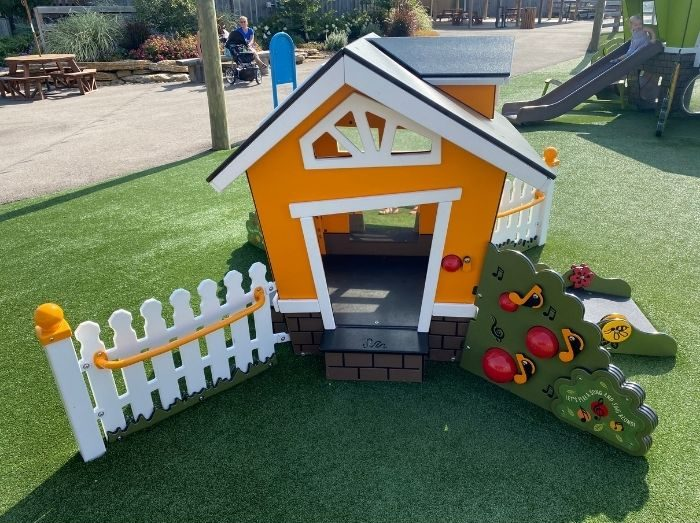 little playhouse at playground at the Ark Encounter