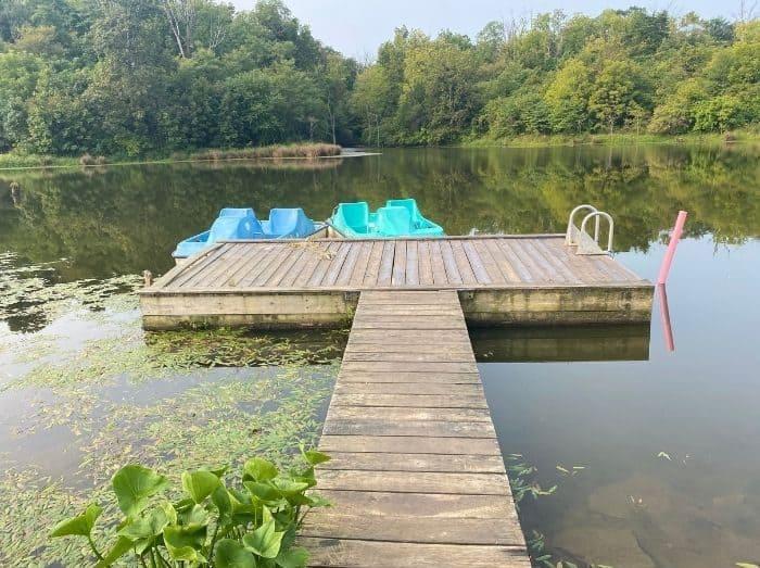 paddleboats at Hidden Lake Farm in Kentucky