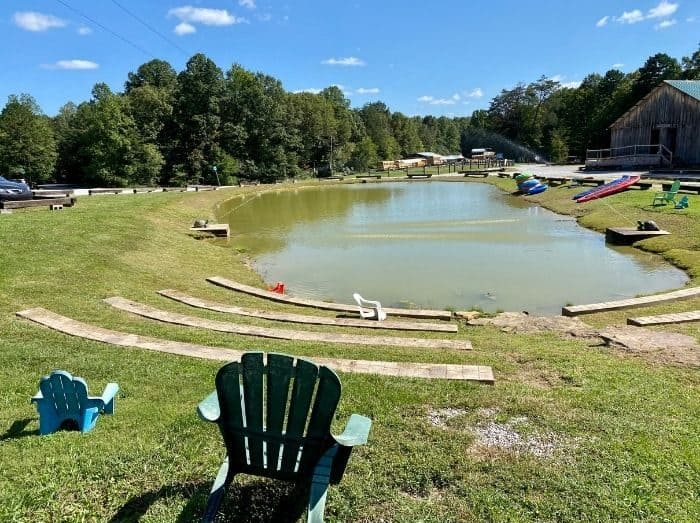 pond at Sheltowee Trace Adventure Resort