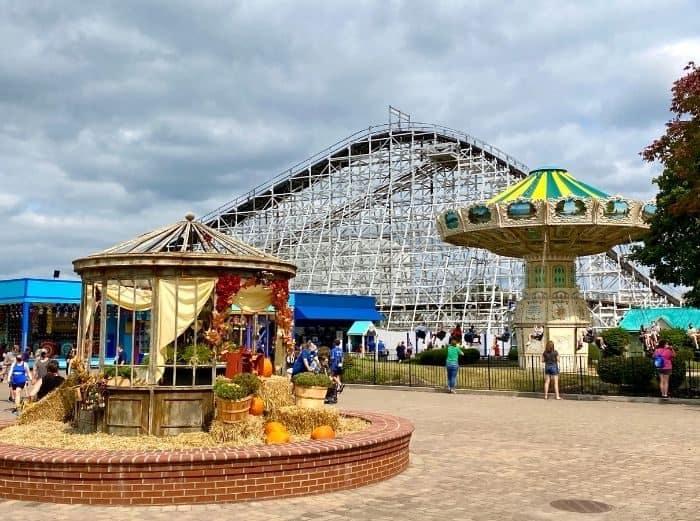 rides at Tricks or Treats Fall Fest at Kings Island