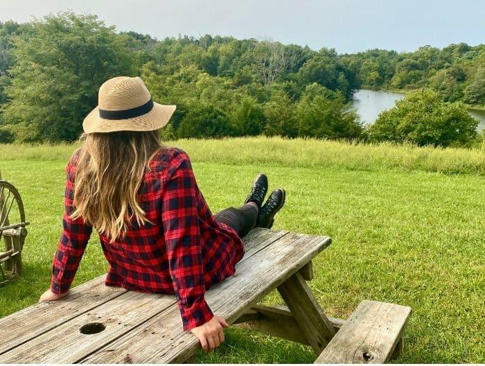 scenic view of the lake at Hidden Lake Farm