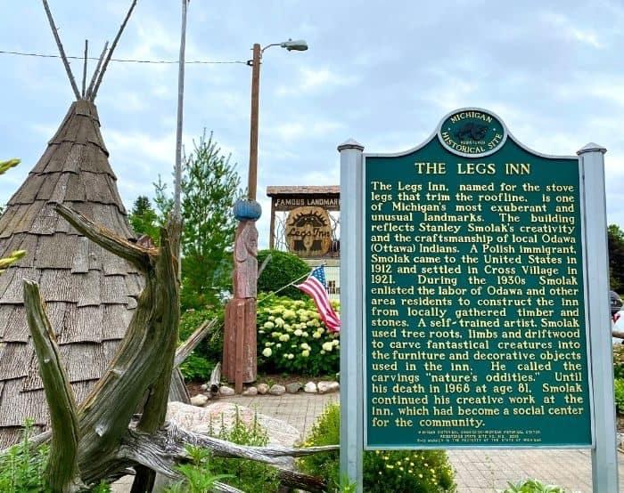 sign for Legs Inn restaurant