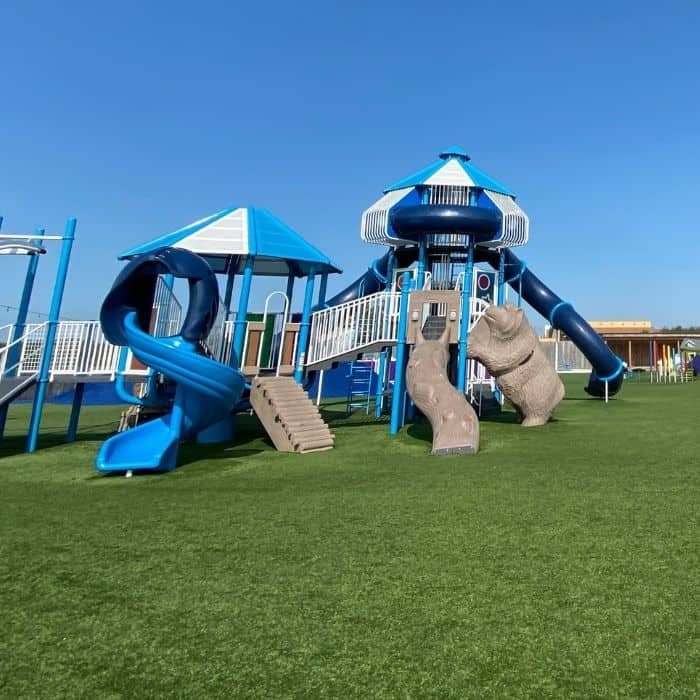 slides at playground at the Ark Encounter