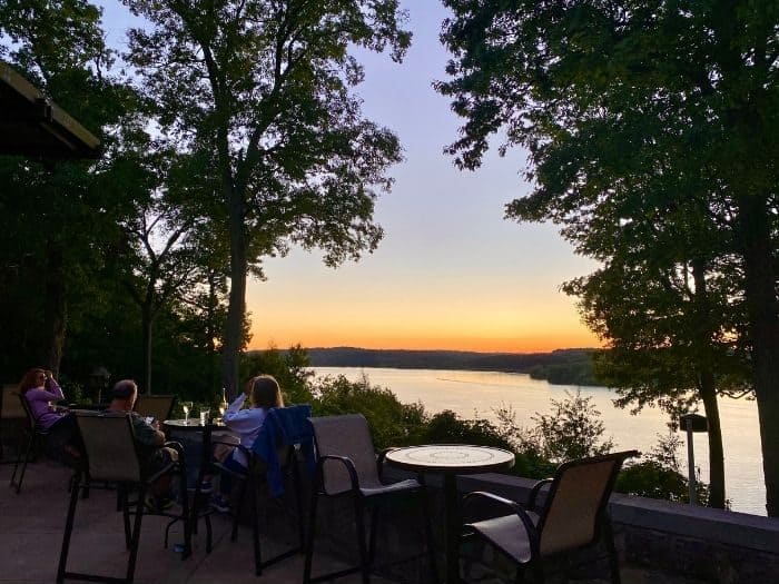 view from outside patio at the Mohican State Park restaurant