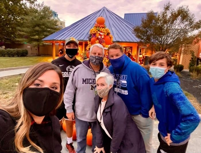 Family at Tricks and Treats Fall Fest at Kings Island