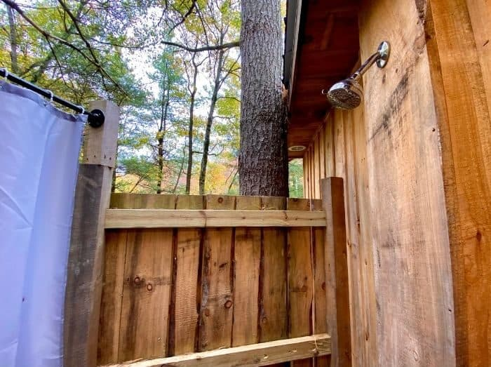Outdoor Shower for the Airstream Treehouse