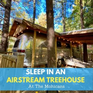Sleep in An Airstream Treehouse at The Mohicans