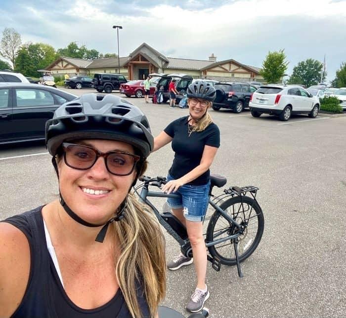 biking at Devou Park