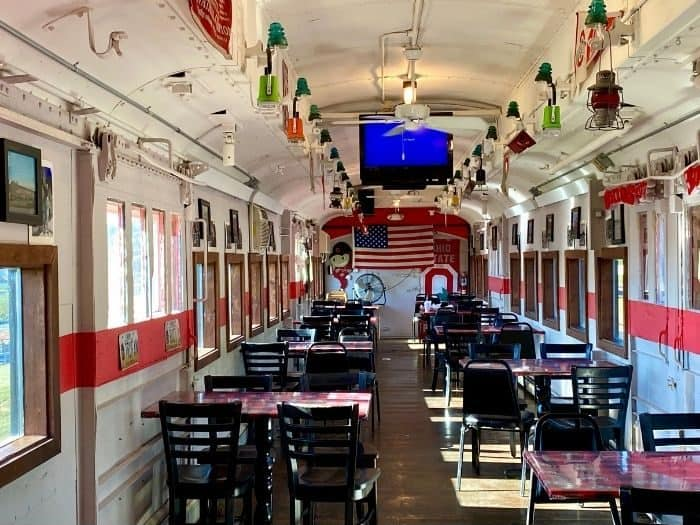 dining train at Buckeye Express Diner
