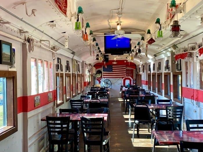 dining train at Buckeye Express Diner