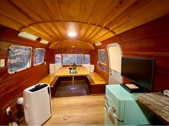 inside The Silver Bullet Airstream Treehouse