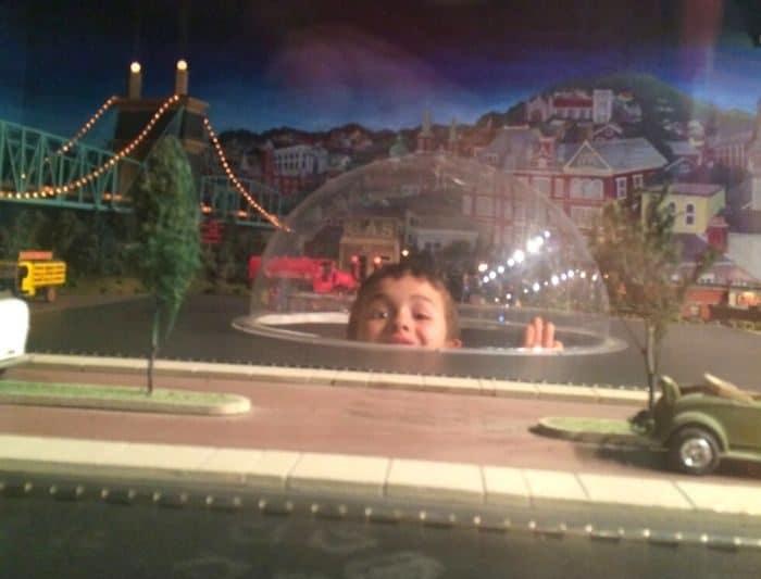 kid inside display at the kid inside display at the Behringer-Crawford Museum Museum