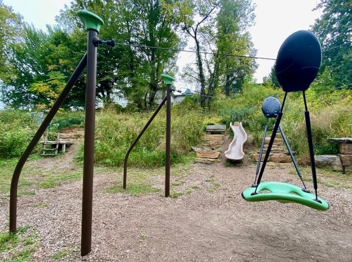 playground at Nature play at the Behringer-Crawford Museum