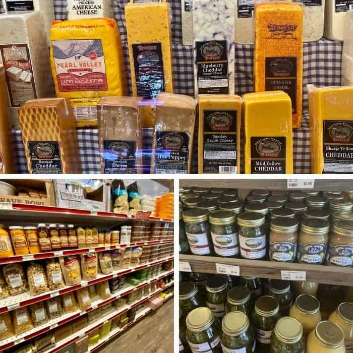 snacks and cheeses at Mohican Country Market