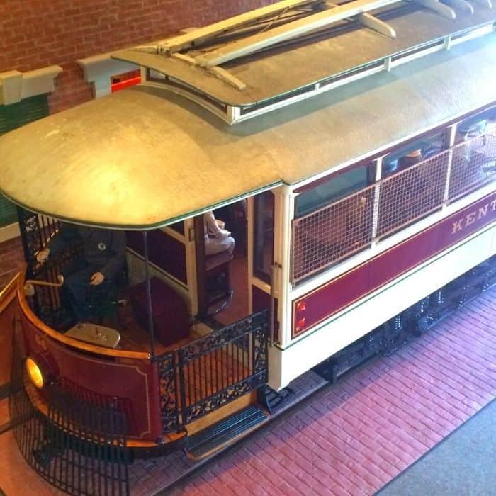 street car at Behringer-Crawford Museum