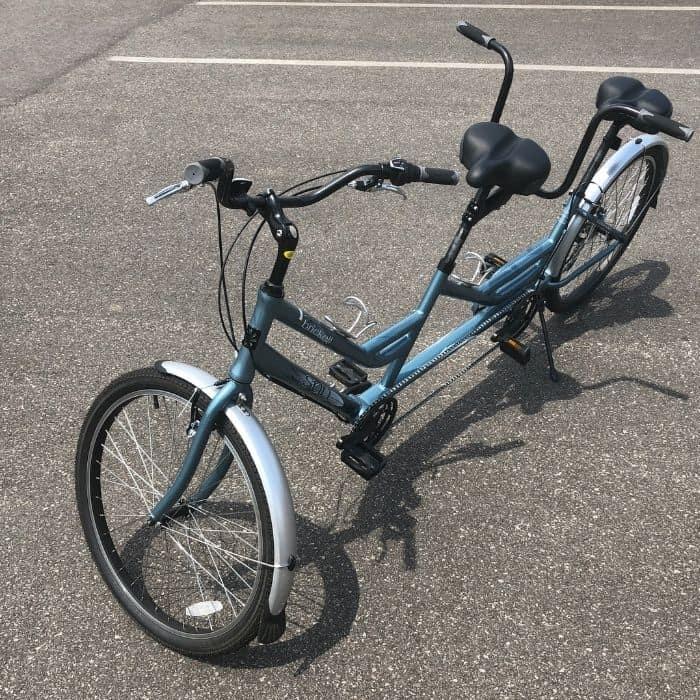 tandem bike rentals at Devou Park