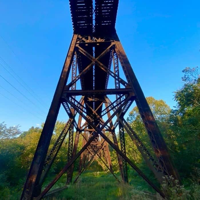 train bridge at Devou Park