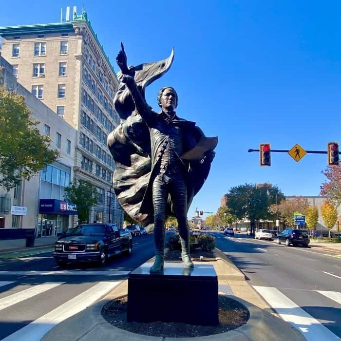 Alexander Hamilton statue in Hamilton Ohio