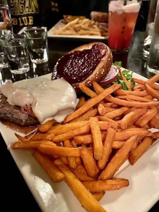 Blackberry Jalapeno Burger at Bavarian Bistro and Bar in Leavenworth Washington