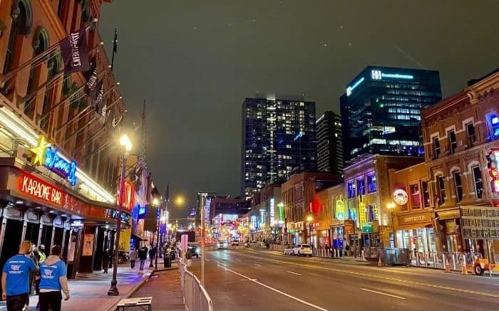 Broadway Street in Nashville Tennessee