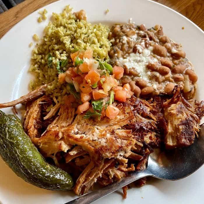 Carnitas plate at SOUTH restaurant in  Leavenworth Washington