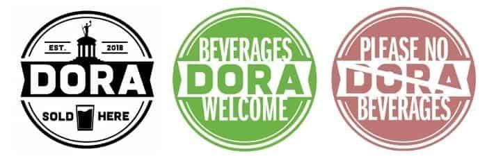 DORA stickers in Hamilton Ohio