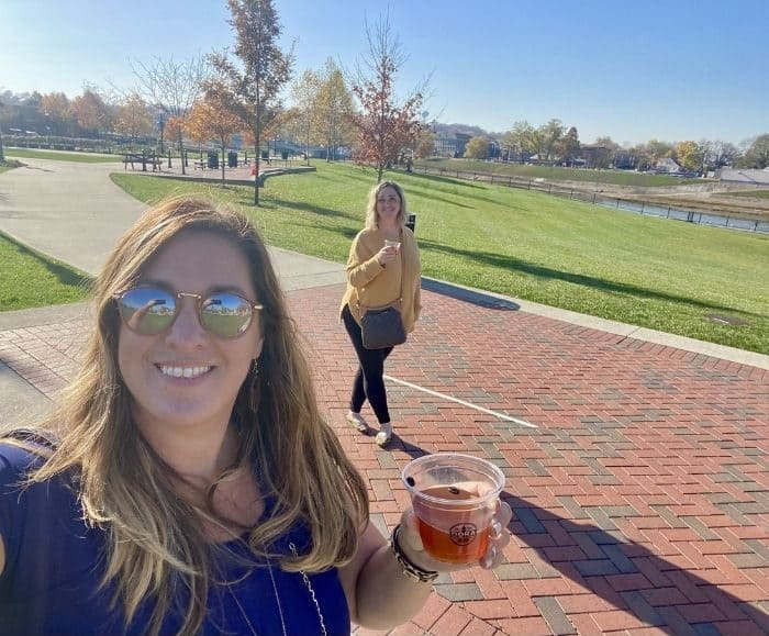 Designated Outdoor Refreshment Area DORA cup in Hamilton Ohio