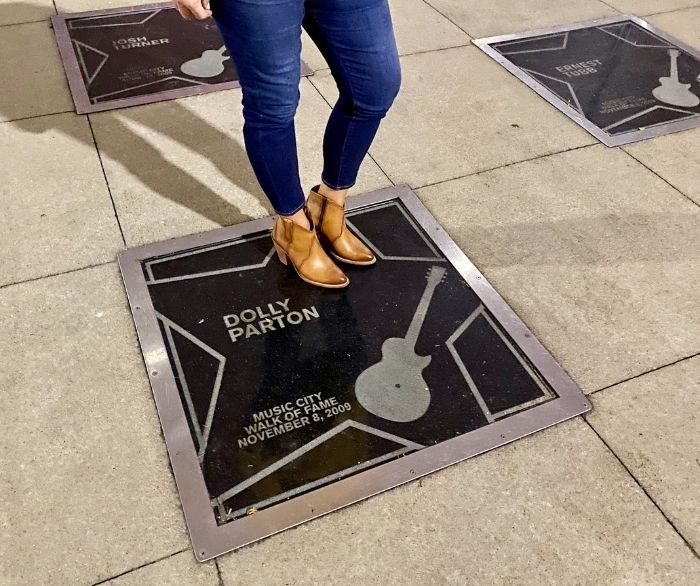 Dolly Parton star on the Music City Walk of Fame