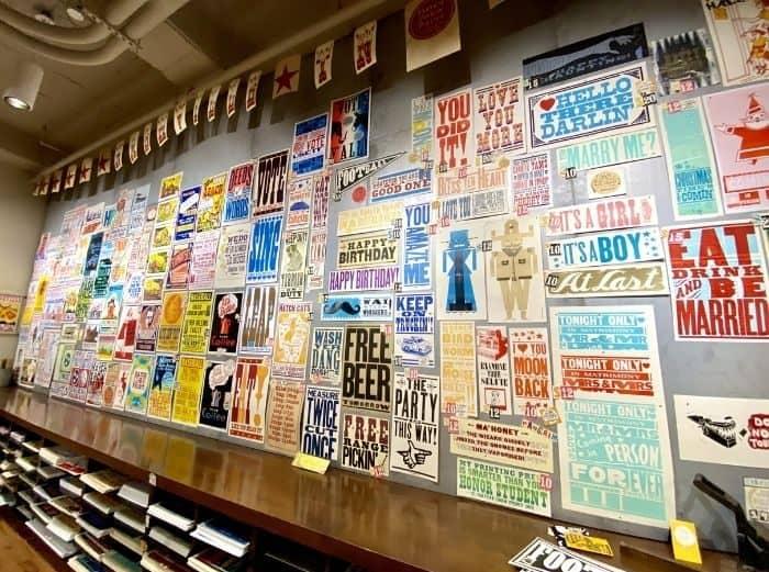 Hatch Show Print Gift Shop in Nashville, TN