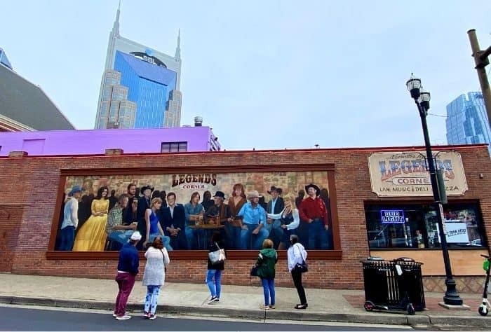 Legends Corner mural in Nashville Tennessee