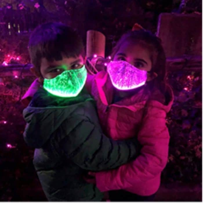 Light up masks at the Cincinnati Zoo