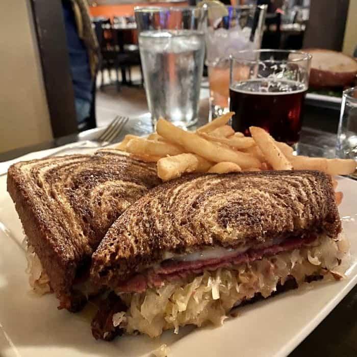 Reuben Sandwich at Bavarian Bistro and Bar in Leavenworth Washington