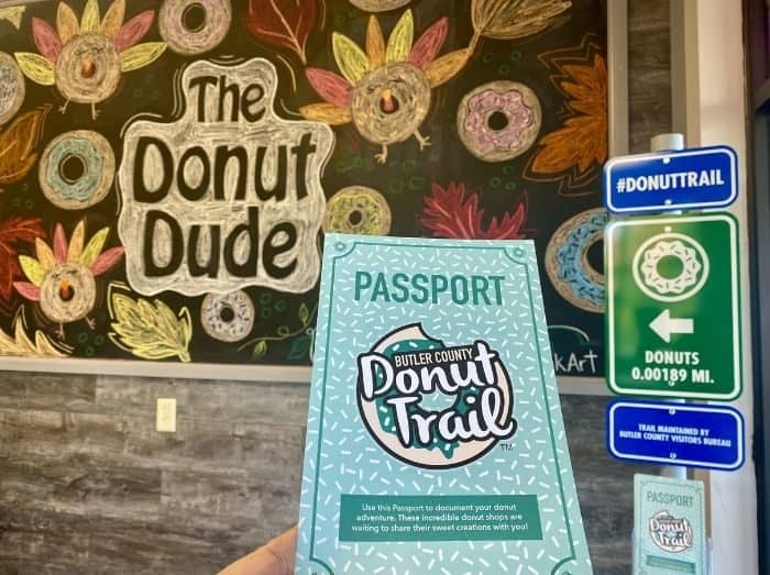 The Donut Dude passport stop on the Donut Trail