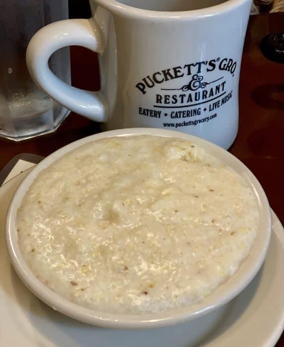 White Cheddar Weisenberger Grits at Puckett's in Nashville