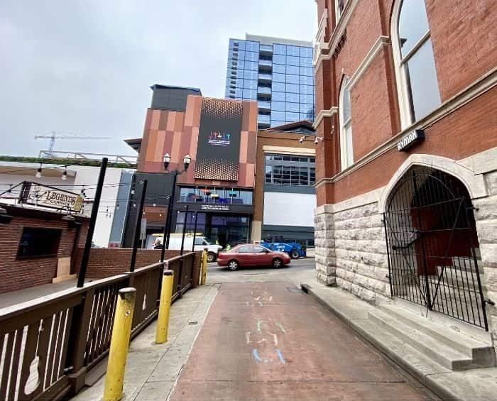 alley by the Ryman Auditorium in Nashville TN