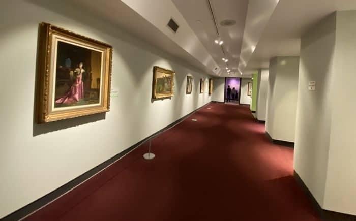 art exhibit inside the Parthenon in Nashville
