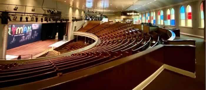auditorium at the Ryman Auditorium in Nashville TN
