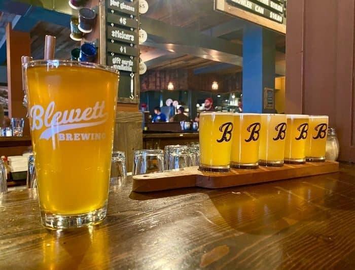 beers at Blewett Brewing Company in Leavenworth WA