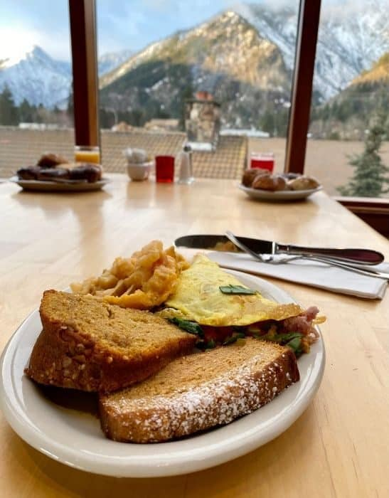breakfast at the Enzian Inn in Leavenworth Washington
