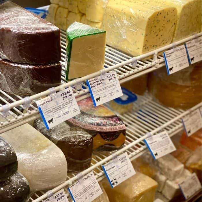 cheese at The Cheesemonger's Shop in Leavenworth WA