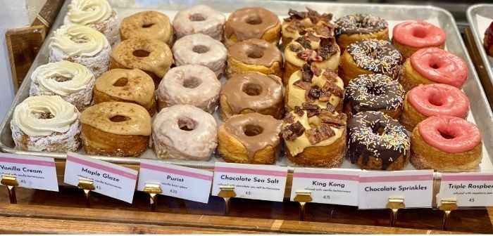 donuts at five daughters bakery in Franklin TN