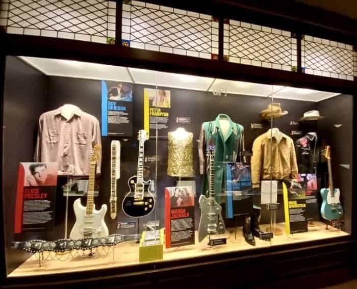 exhibit at the Ryman Auditorium in Nashville TN