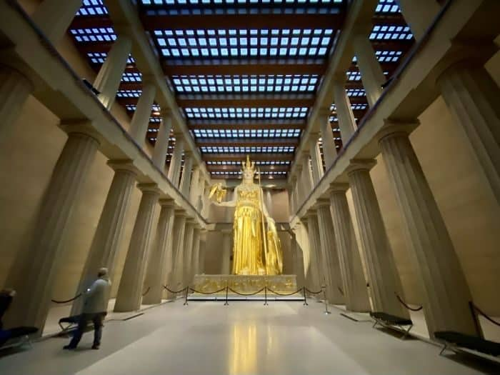 inside the Parthenon in Nashville Tennessee