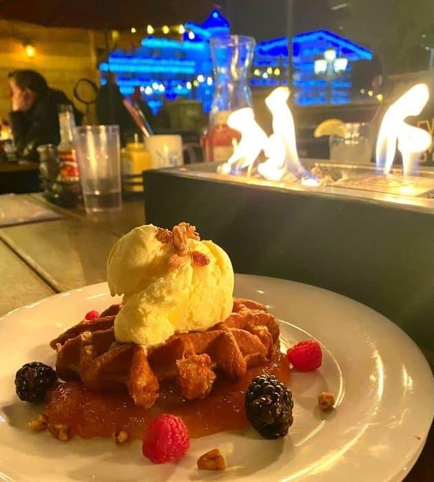 pearl sugar waffle at Rhein Haus in Leavenworth WA