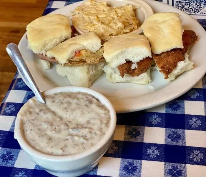 sausage and Biscuit Sampler Platter at the Loveless Cafe in Nashville TN
