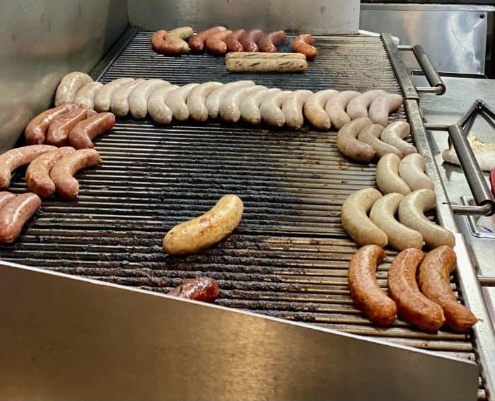 sausages at Munchen Haus in Leavenworth WA