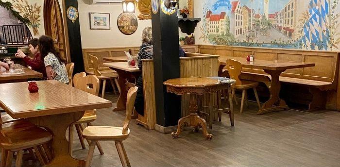 seating at Andreas Keller in Leavenworth Washington