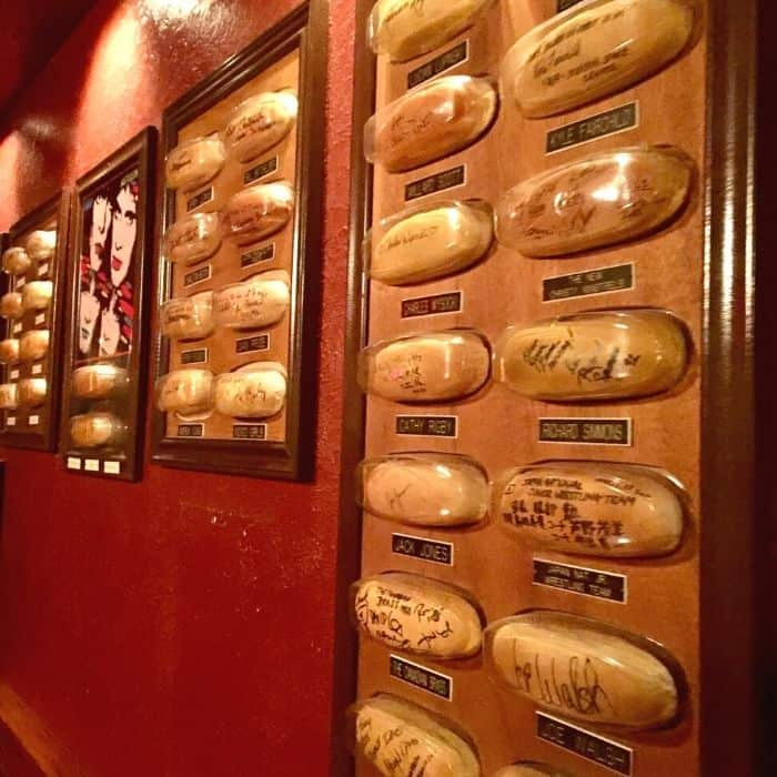 autographed hot dog buns at Tony Packo's