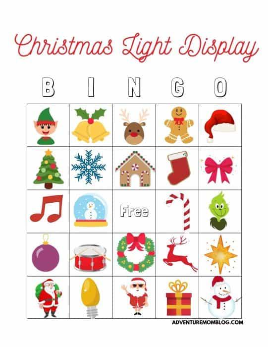 Christmas Light Display Bingo