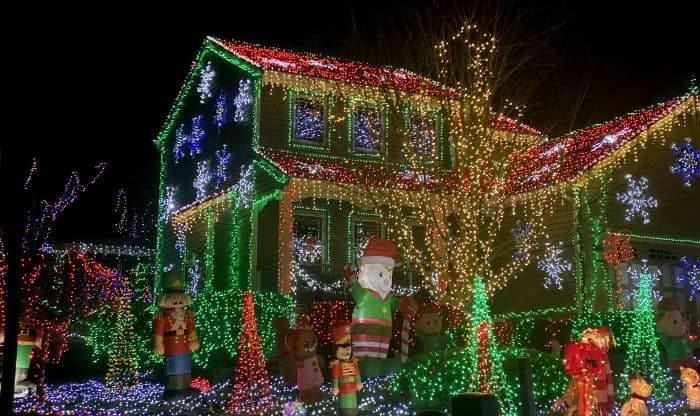 Christmas Lights at Christopher Dr in Independence KY